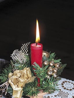 Candle, Christmas, The Birth Of Jesus, Savior's Arrival