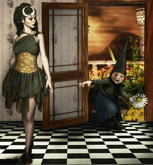 Fae, Fairy, Gnome, Neighbor, Fantasy, Fairytale, Visit