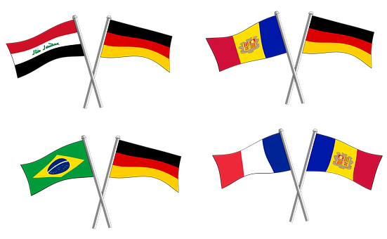 Germany, France, Friends, Flag, Flags