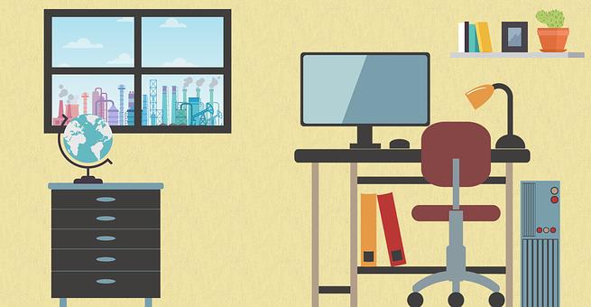 Workroom, Office, Design Of Workroom, Work, Job