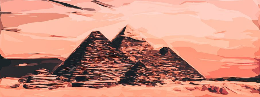 Pyramid, Egypt, Monumental, Architecture