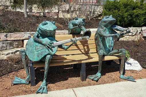 Frogs, Musical, Metal, Outdoor Art