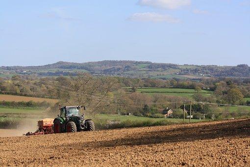 Farming, Tractor, Countryside, Field, Rural, Machine