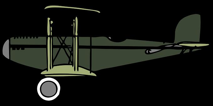 Biplane, Plane, Airplane, Crop Duster, Vintage, Green