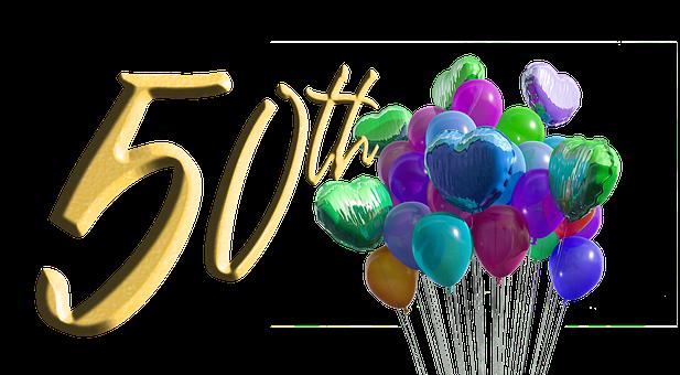 Anniversary, 50Th, Milestone, Birthday