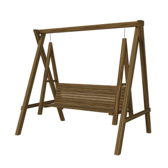 Swing, Wooden, Yard, Relax, Chair, Bench, Chains