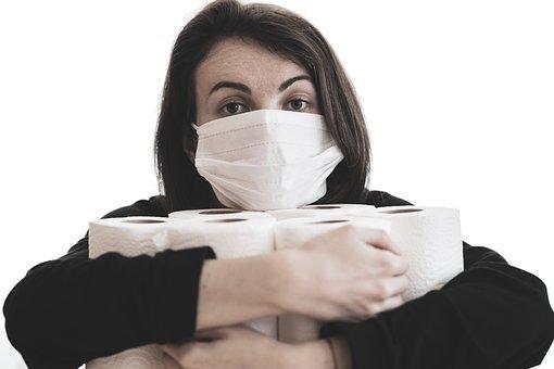 Coronavirus, Epidemic, Mask, Toilet Paper, Bathroom