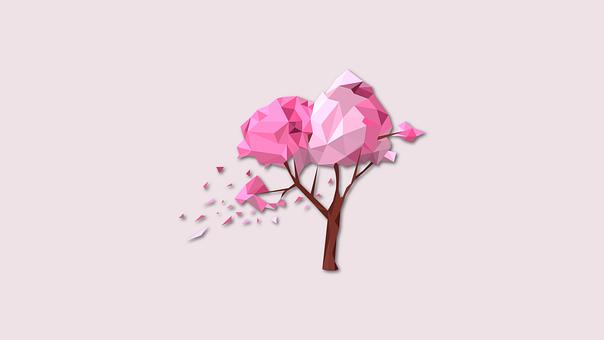 Graphics Art, Polygons Tree, Natural Tree, Tree