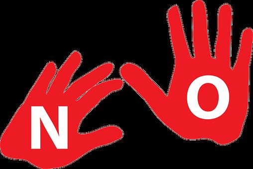 Say No, No, No No, Stop, Hands, Hand's Up, Just Say No