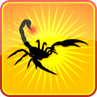 Scorpion, Silhouette, Insects, Animals, Symbol, Icon