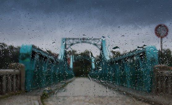 Rain, Weather, Wet, Clouds, Gloomily, Bridge, Drops