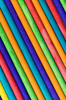 Color, Wooden Stick, Close-up, Macro