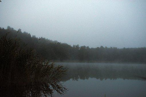 Lake, Water, The Fog, In The Morning, Landscape, Figure