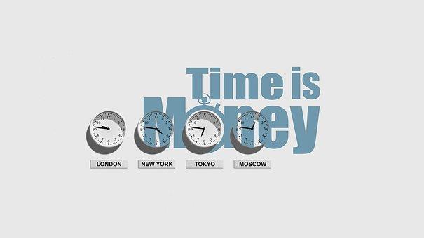 Clock, Time, Money, Saying, Slogan, Kaufmann, Business