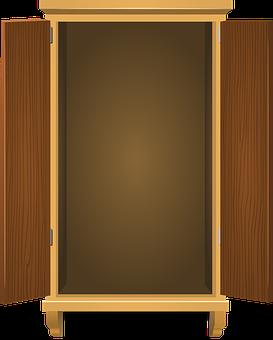 Cupboard, Wooden, Storage, Cabinet, Open