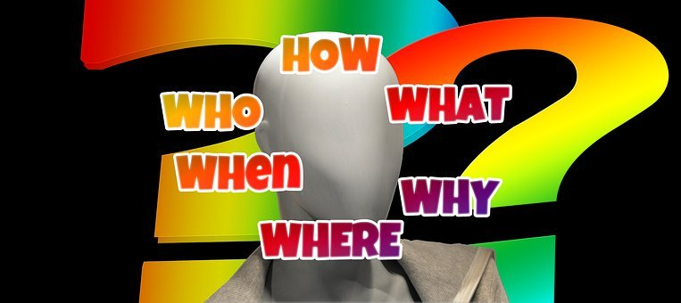Head, Face, Questions, Who, What, How, Why, Where