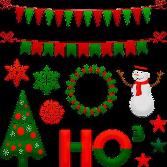 Christmas Snowman, Christmas Bunting, Wreath, Ho 3
