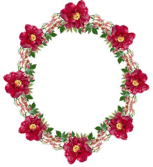 Frame, Wreath, Border, Floral, Peonies, Cut Out