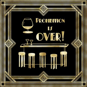 Roaring Twenties, Bar, Prohibition Is Over, Flapper