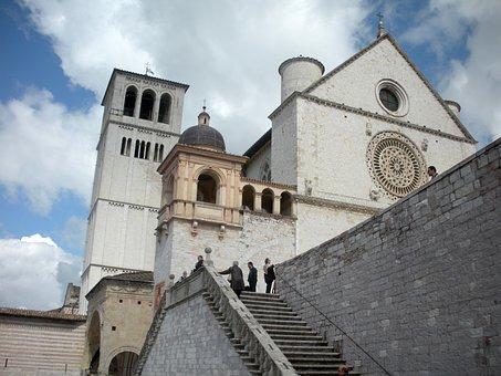 Basilica, St Francis, Assisi, Umbria, Italy, Church