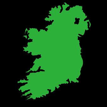 Ireland, Ireland Map, Eire, Irish, England, Uk, Emerald