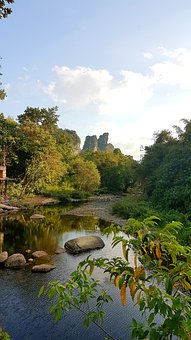 Thailand, National Park, Kao Sok, River