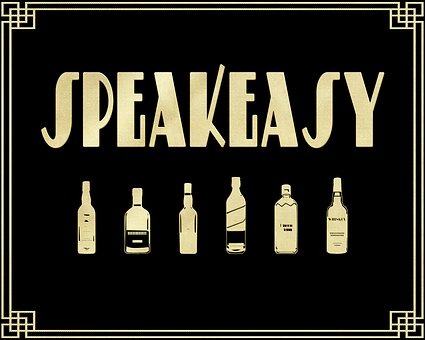Roaring 20'S Sign, Speakeasy, Alcohol