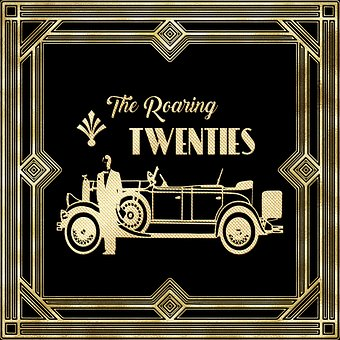 Roaring Twenties, Gatsby, Flapper, Art Deco, Twenties