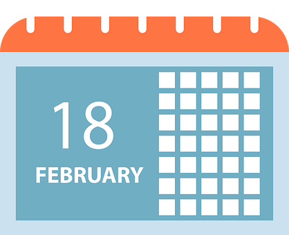 Calendar, Date, February, January, Love, Day, Agenda