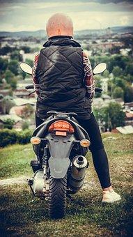 Girl, Bike, Motorcycles, Motorcycle, Biker, Sports