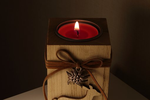 Candle, Candle Holder, Fire, Evening, Brown Candle