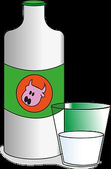Milk, Bottle, Dairy, Drink, Breakfast, Calcium, Healthy
