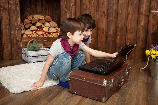 Kids, Entertainment, Notebook, Computer, Baby