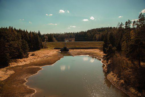 River, Dam, Water Tank, Landscape, Nature, Valley
