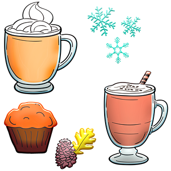Hot Cocoa, Muffin, Hot Chocolate, Autumn, Acorn, Food