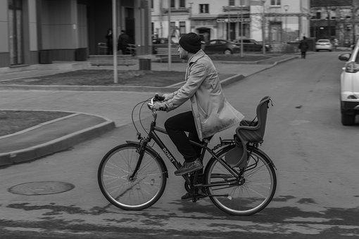 Man On Bike, Bike, Cyclist, Man