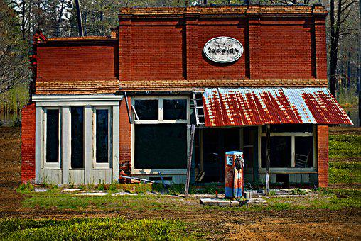 Vintage, Gas Station, Old, Antique, Gasoline, Station