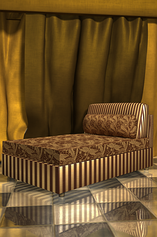 Club, Seat, Seating, Lounge, Chair, Gold, Golden, Drape