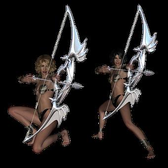 Archer, Fantasy, Archery, Arrow, Bow, Woman, Hunter