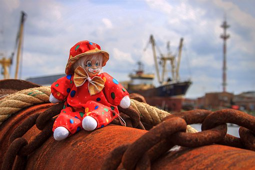 Rust, Sea, Boat, Rusty, Corrosion, Clown, Chain