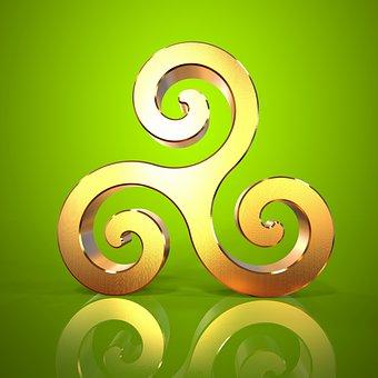 Triskell, Triskel, Celtic, Symbol, Logo