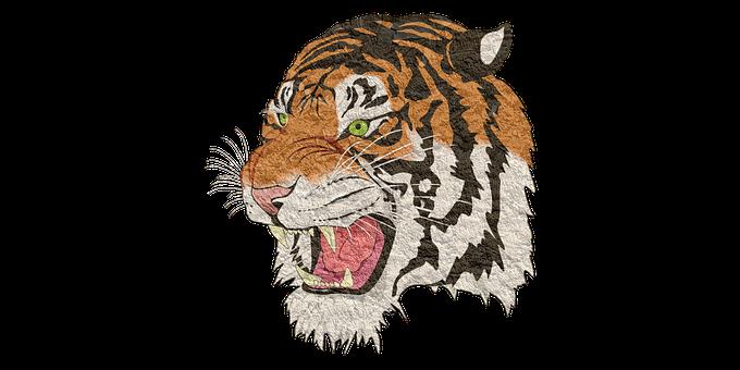 Tiger, Tiger Png, Lion, Animal, Cheetah, Vintage