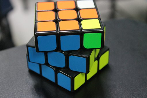 Rubick's Cube, Colors, Shapes, Squares, Rainbow