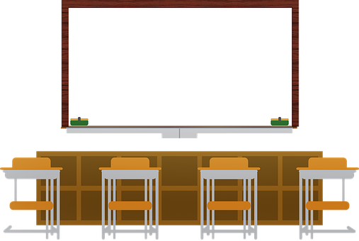 White Board, Classroom, Desk, Education, Board, School