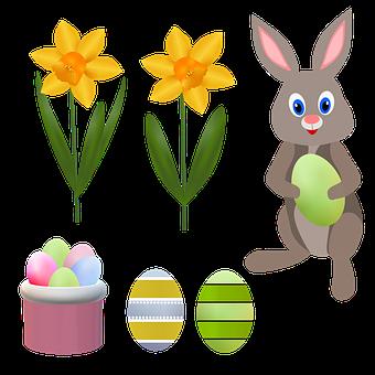 Easter, Easter Flower, Narcis, Illustration