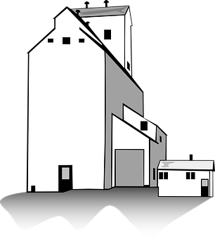 Elevator, Farm, Building, Agriculture, Industry