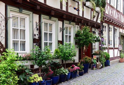Houses, Truss, Fachwerkhaus, Historic Center