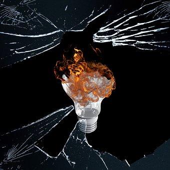 Flame, Fire, Lamp, Shine, Debris