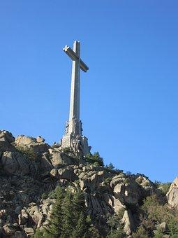 Cross, Crucifix, Mountain, Spain, Catholic, Landscape