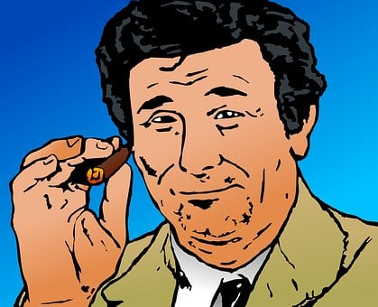 Portrait, Man, Columbo, Detective
